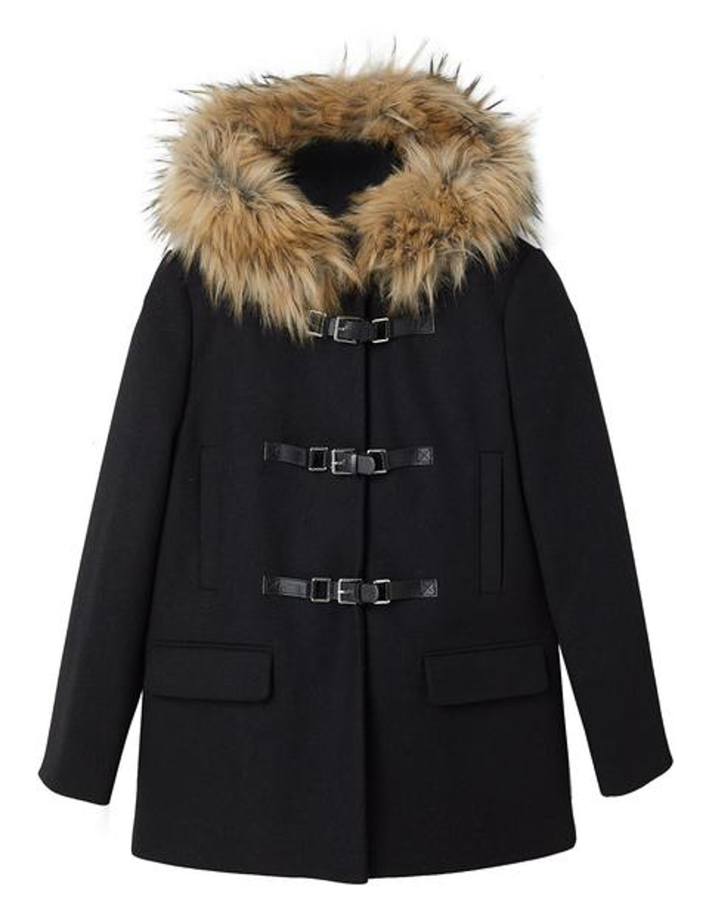 Пальто Stradivarius Ж1052149 (5874/133/001) цвет черный