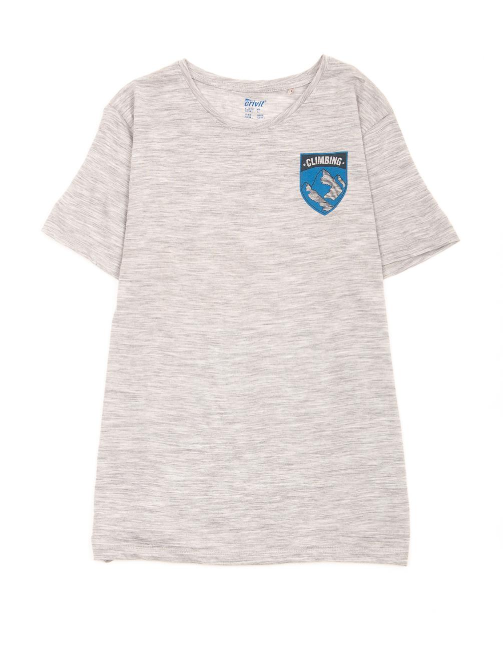 Футболка Crivit М0108131 (308780) цвет серый